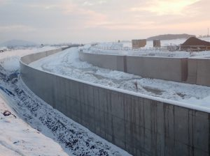 北海地区 北海幹線用水路京極橋下流工区工事